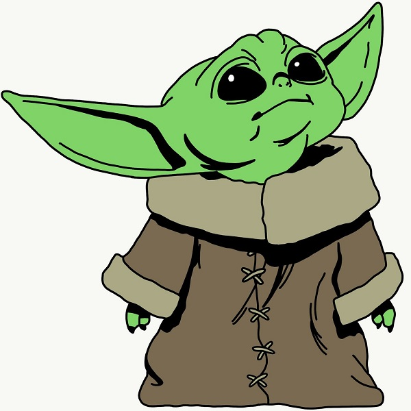 Learn To Draw A Baby Yoda Drawing In 6 Easy Steps.